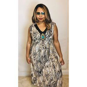 Mlle Gabrielle 3x Maxi - Brown & Tan Zebra Maxi